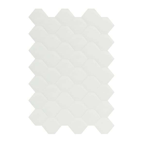 Hexagonal White Wall Panel 3D Model