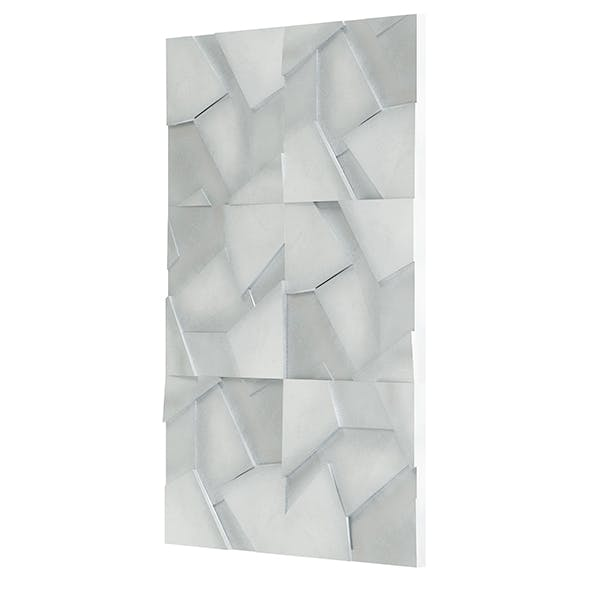 Cracked Metal Wall Panel 3D Model