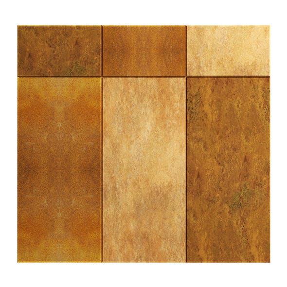 Rusted Metal Tiles 3D Model - 3DOcean Item for Sale