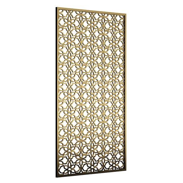 Bronze Metal Wall Panel 3D Model - 3DOcean Item for Sale