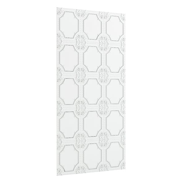 Classic White Wall Panel 3D Model - 3DOcean Item for Sale