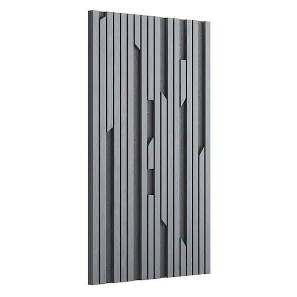 Black Wood Wall Panel 3D Model