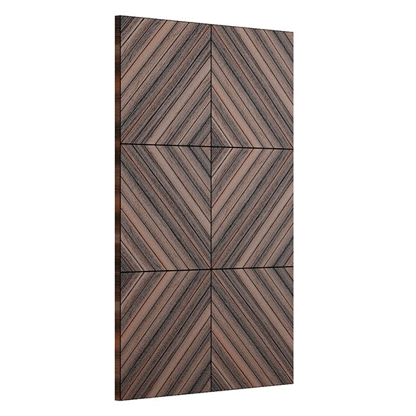 Wooden Wall Panel 3D Model - 3DOcean Item for Sale