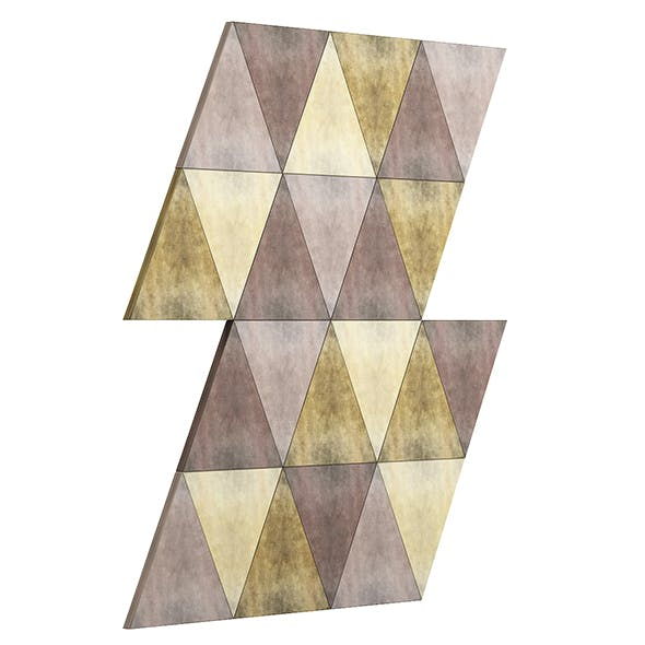 Metal Triangle Tiles 3D Model - 3DOcean Item for Sale