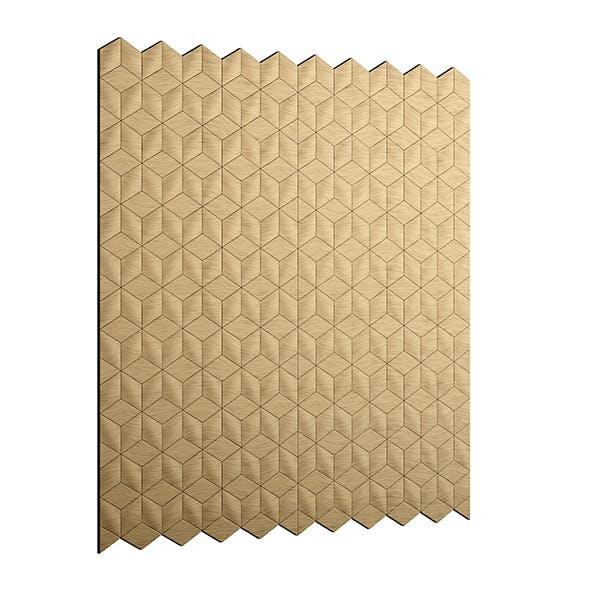 Golden Metal Wall Panel 3D Model - 3DOcean Item for Sale