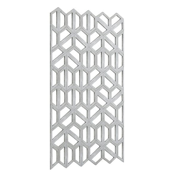 Concrete Hexagonal Wall Panel 3D Model