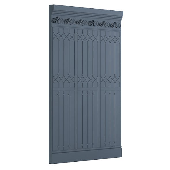 Classic Decorative Wall Panel 3D Model - 3DOcean Item for Sale