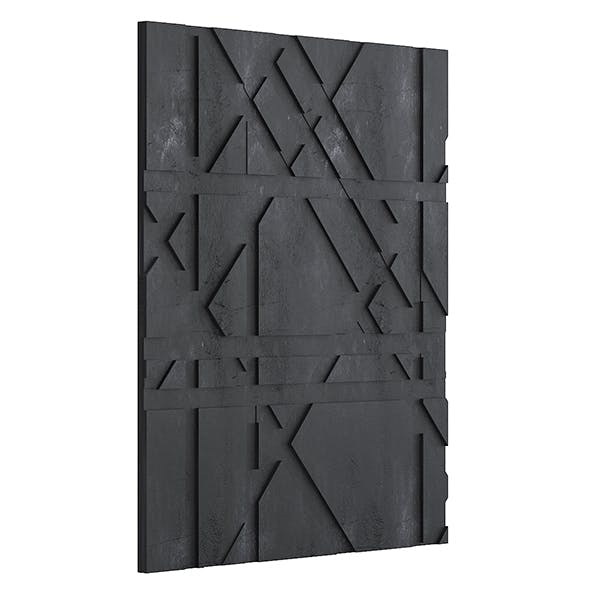 Black Stone Wall Panel 3D Model - 3DOcean Item for Sale
