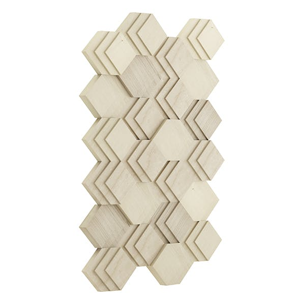 Decorative Wooden Wall Panel 3D Model