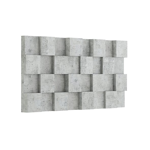 Concrete Wall Cubes 3D Model