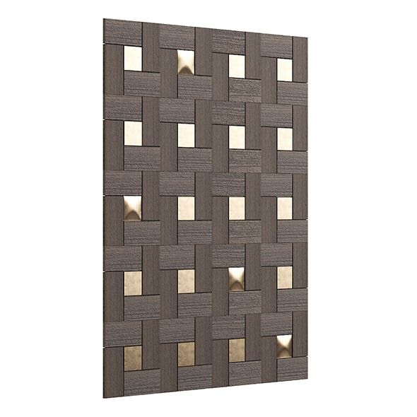 Wood and Bronze Wall Panel 3D Model - 3DOcean Item for Sale