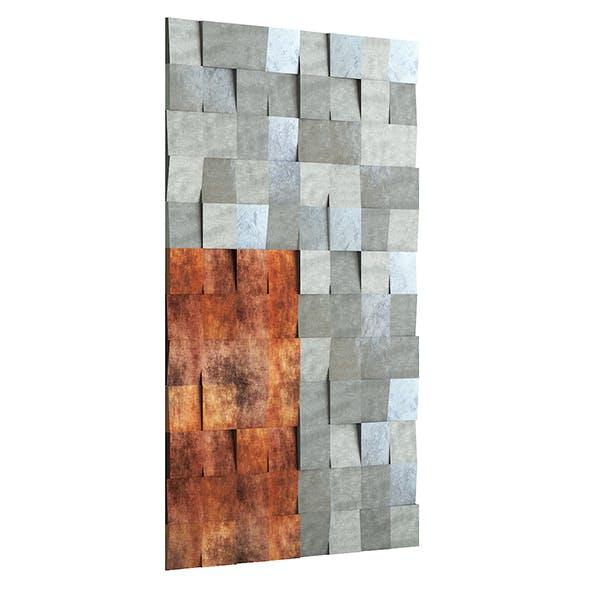 Metal Wall Panel 3D Model - 3DOcean Item for Sale