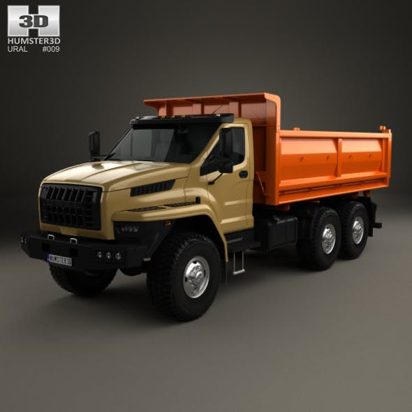 Ural Next Tipper Truck 2016 - 3DOcean Item for Sale