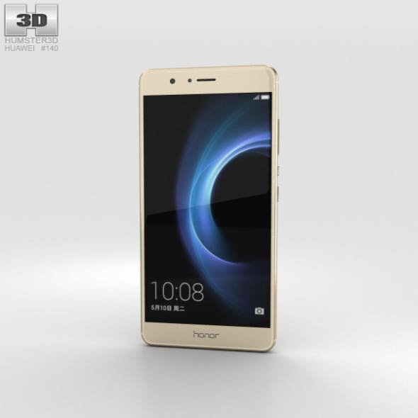Huawei Honor V8 Gold - 3DOcean Item for Sale