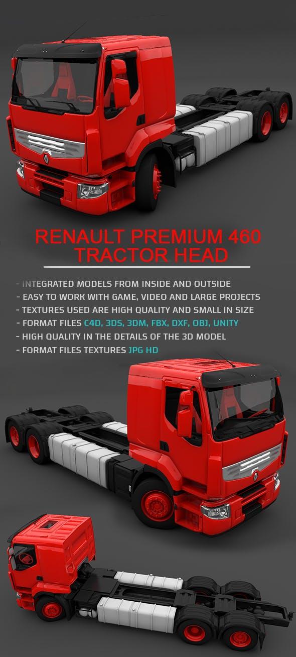 Renault Premium 460 Tractor Head - Full 3D Model - 3DOcean Item for Sale