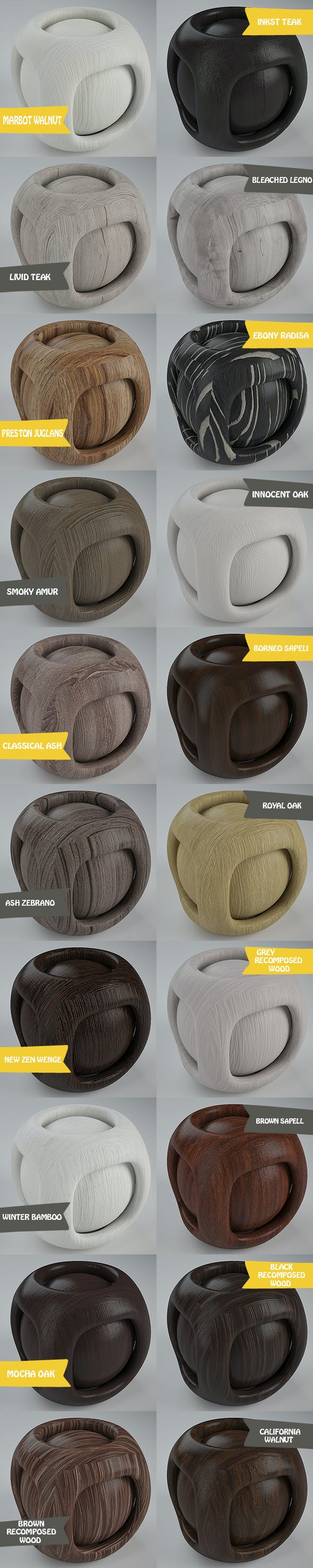 Real Plywood Pack 2 (20 Vray Material) - 3DOcean Item for Sale