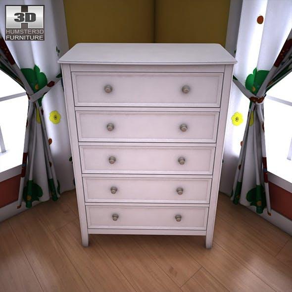 Ashley Caspian Panel Chest - 3D model.  - 3DOcean Item for Sale