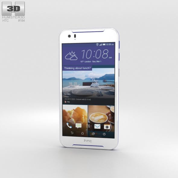 HTC Desire 830 White/Blue - 3DOcean Item for Sale