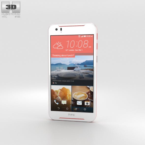 HTC Desire 830 White/Red - 3DOcean Item for Sale