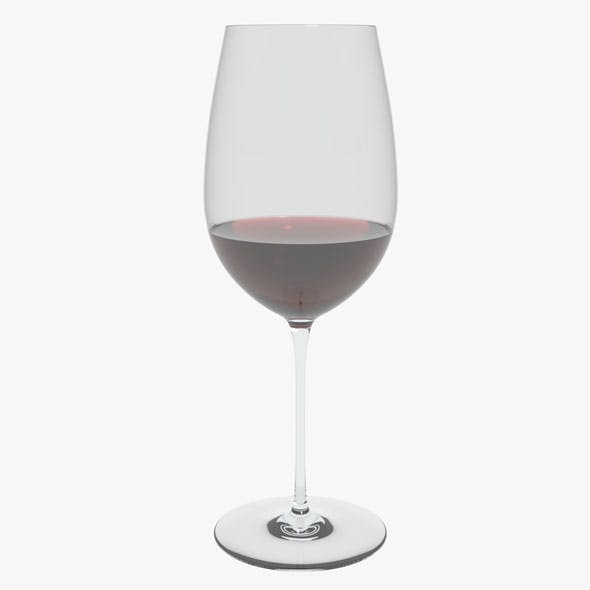 Glass Riedel Superleggero Bordeaux Grand Cru With Wine