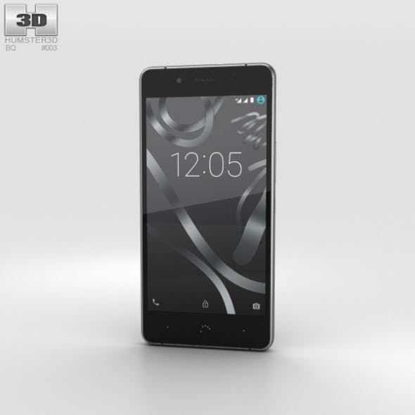 BQ Aquaris X5 Plus Gray - 3DOcean Item for Sale