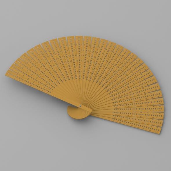 Wooden Hand Fan - 3DOcean Item for Sale