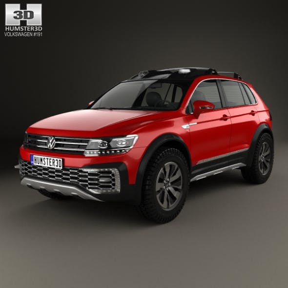 Volkswagen Tiguan GTE Active 2015 - 3DOcean Item for Sale