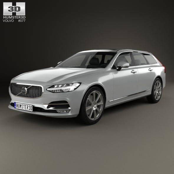 Volvo V90 T6 Inscription 2016 - 3DOcean Item for Sale
