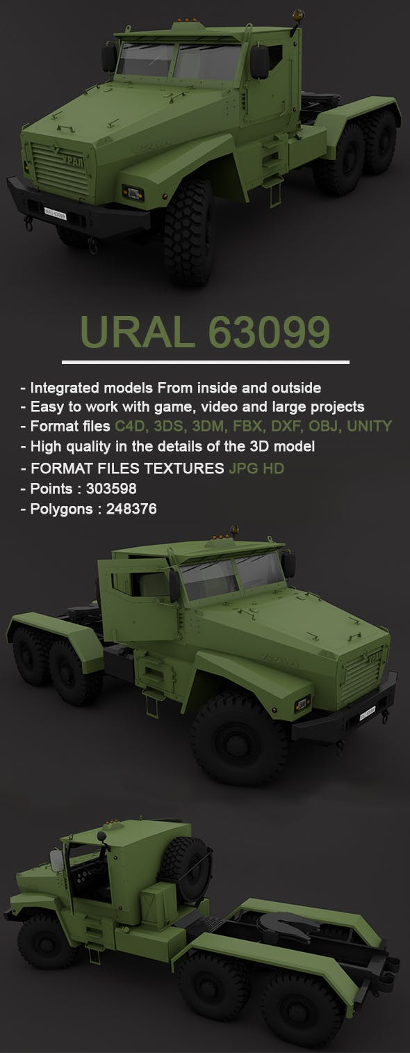 UraL 63099 Full 3D Model - 3DOcean Item for Sale