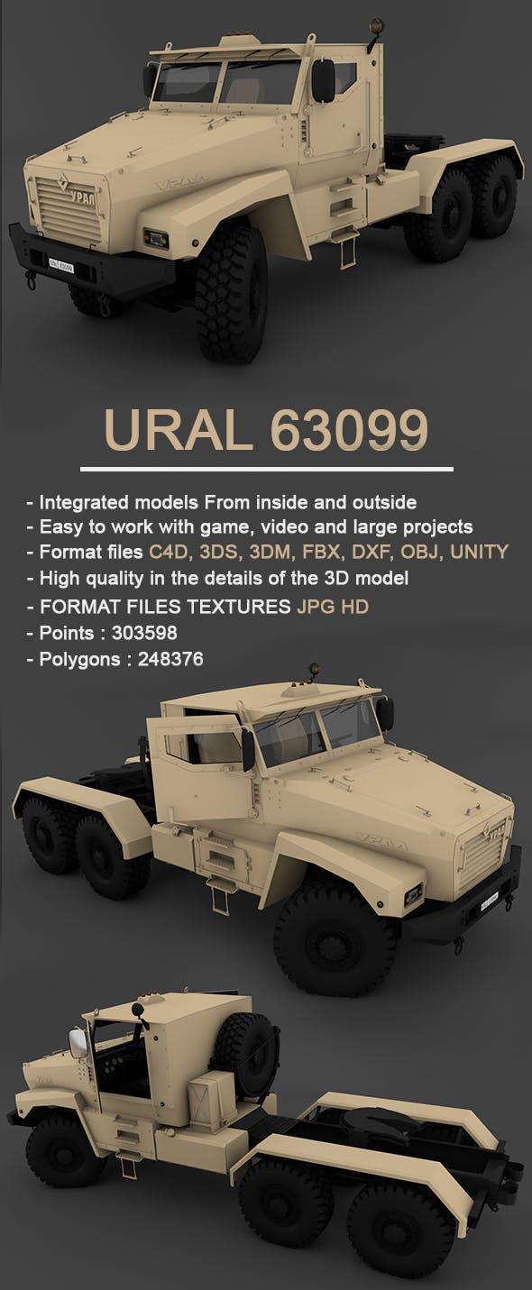 Ural 63099 Full 3D Model - 3DOcean Item for Sale