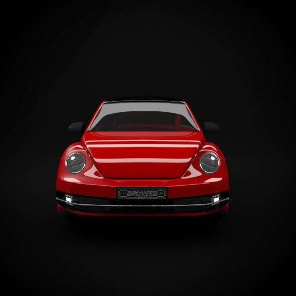 Newbeetle Car Modeling - 3DOcean Item for Sale