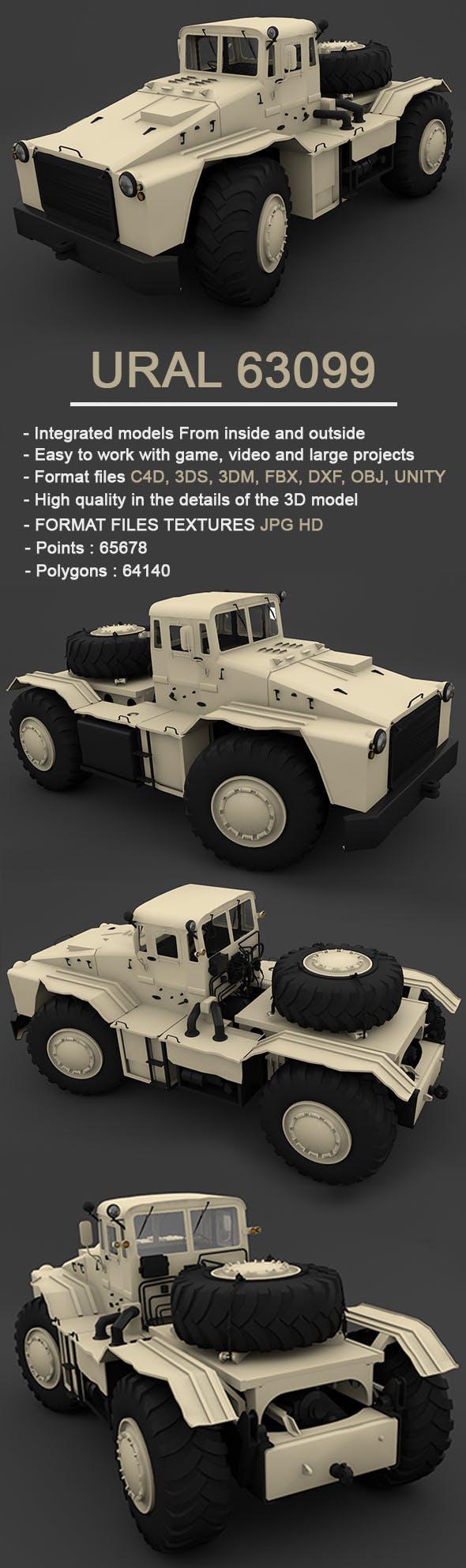 MAZ-538 - Full 3D Model - 3DOcean Item for Sale