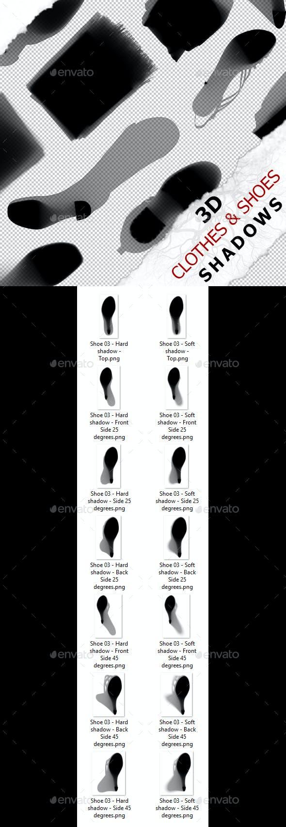 3D Shadow - Shoes 03 - 3DOcean Item for Sale