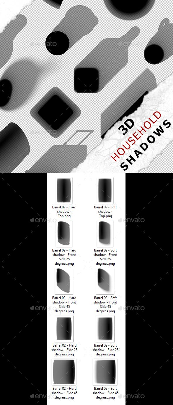 3D Shadow - Barrel 02 - 3DOcean Item for Sale
