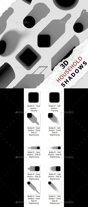 3D Shadow - Bottle 01 - 3DOcean Item for Sale