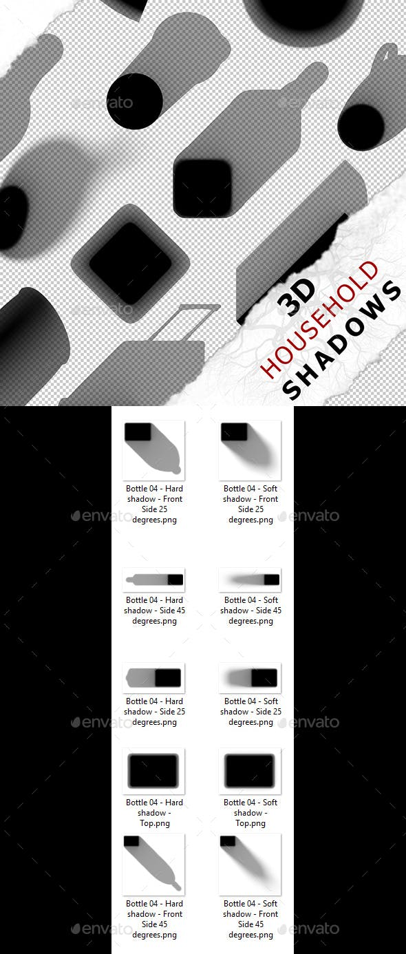 3D Shadow - Bottle 04 - 3DOcean Item for Sale