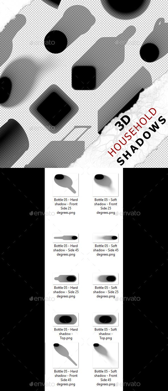 3D Shadow - Bottle 05 - 3DOcean Item for Sale