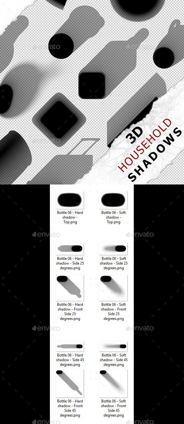 3D Shadow - Bottle 06 - 3DOcean Item for Sale