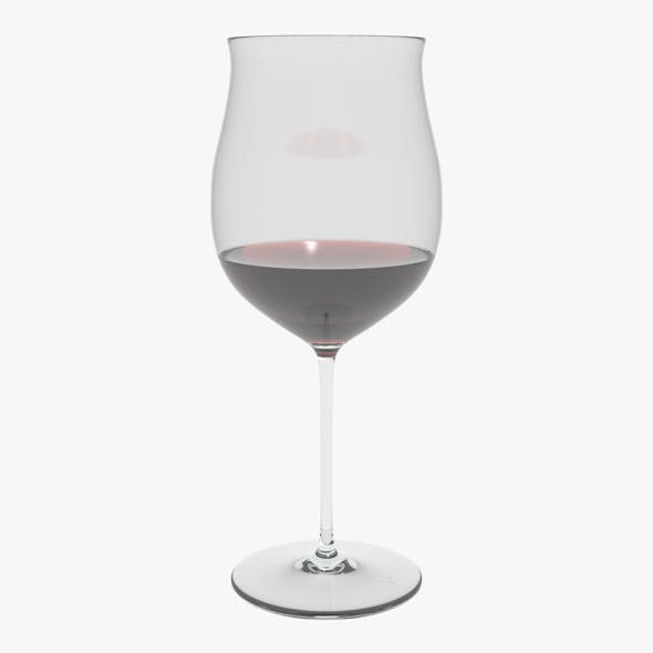 Glass Riedel Superleggero Burgundy Grand Cru With Wine - 3DOcean Item for Sale