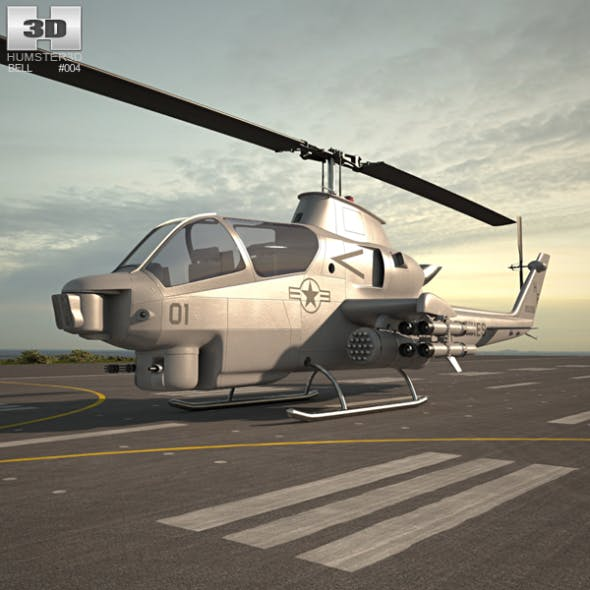 Bell AH-1 Cobra - 3DOcean Item for Sale