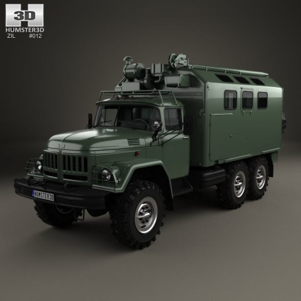 ZiL 131 Box Truck 1966 - 3DOcean Item for Sale