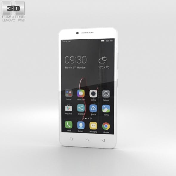 Lenovo Vibe C White - 3DOcean Item for Sale