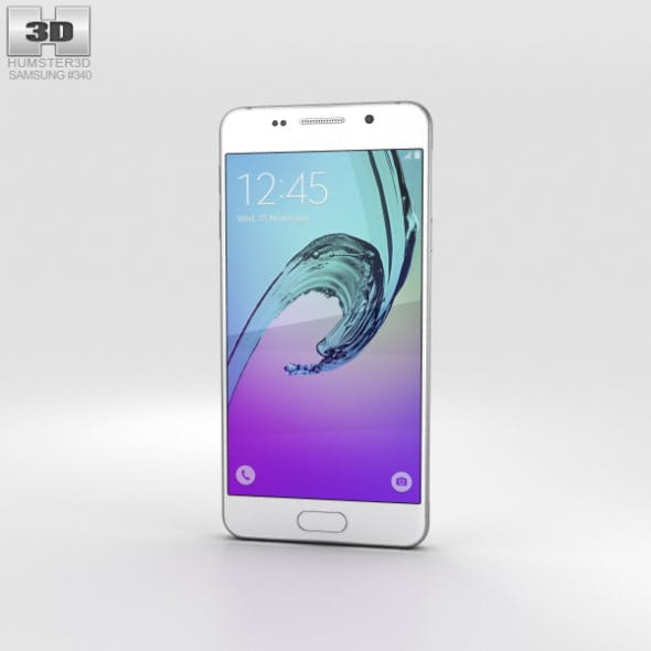 Samsung Galaxy A3 (2016) White - 3DOcean Item for Sale