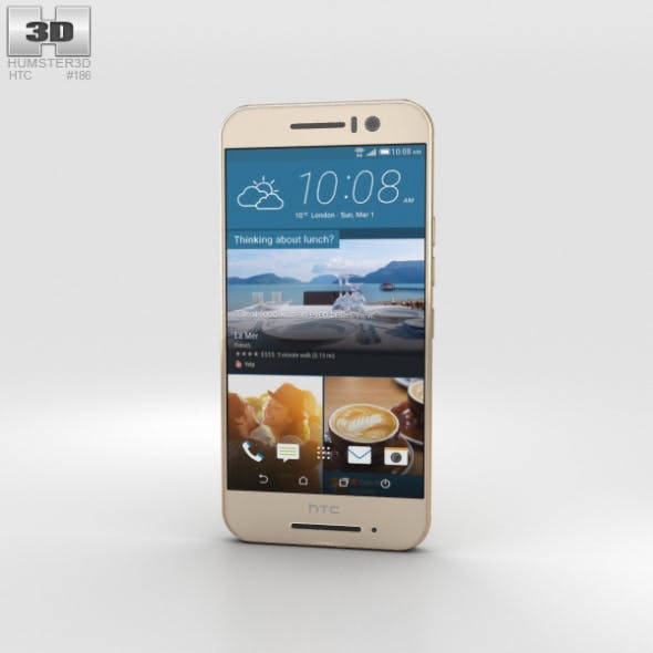 HTC One S9 Gold - 3DOcean Item for Sale
