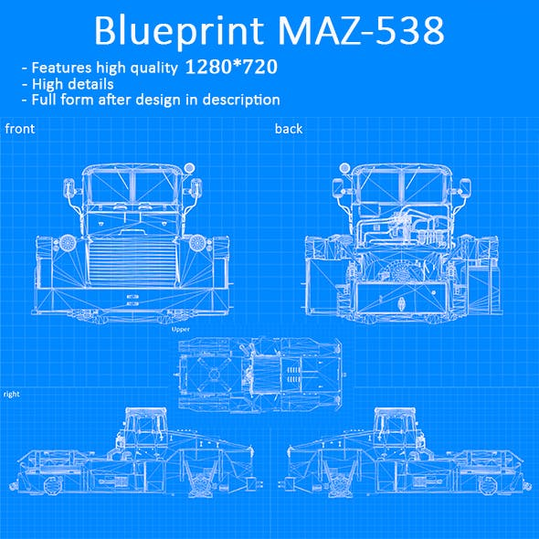 Blueprint Car - MAZ-538
