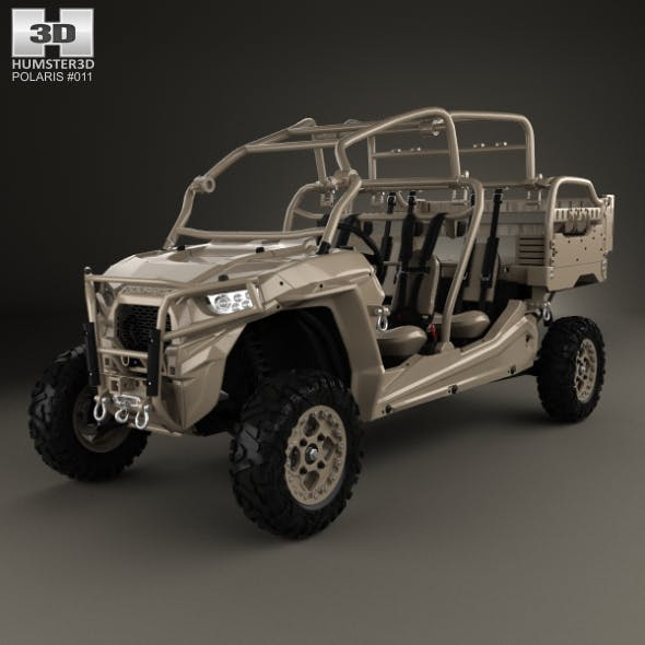 Polaris MRZR D4 Military Tan 2016 - 3DOcean Item for Sale