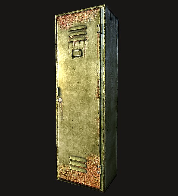 Lowpoly Old locker - 3DOcean Item for Sale