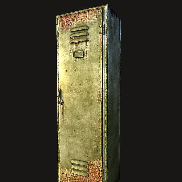 Lowpoly Old locker