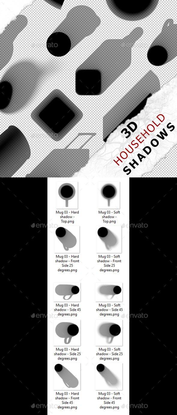 3D Shadow - Mug 03 - 3DOcean Item for Sale