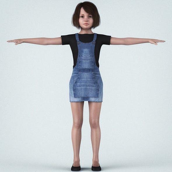 Beautiful Little Girl - 3DOcean Item for Sale